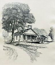 """Frederick Polley """"Salem Lane"""" 9"""" x 7.5"""" Print"""
