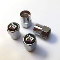 4x Bouchons de valve AUDI jantes alu A3 A4 A5 A6 A7 A8 TT S3 S4 S6 TDI 3.0 V6 S5