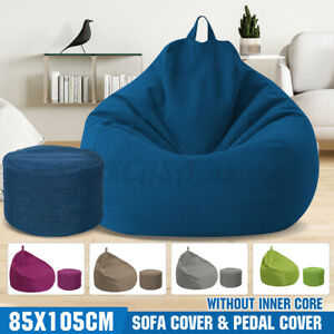 Extra Large Bean Bag Chair Sofa Cover Indoor/Outdoor Seat Couch Lazy Tatami Bags