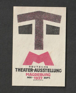 Modernist Poster Stamp GERMAN THEATRE EXPO 1920s Graphic Design Karl Schulpig