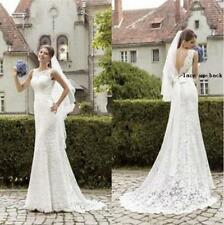 New White/Ivory Mermaid Wedding Dress Bridal Gown Stock Size: 6-8-10-12-14-16-18