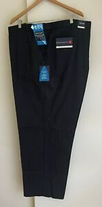 """Men's Flat Front Weekender's Black Cotton Pants - SIZE 54""""-137 cm NEW with Tags"""