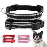 Strass Hundehalsband Französische Bulldogge Strasshalsband Verstellbar Halsband
