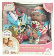 Cuddly Love Baby Emma Doll Gift Set -  Bedtime Book & Bear Ages 2+