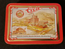 Coors Brewery Collectors Tin & Playing Cards: New, cards are sealed