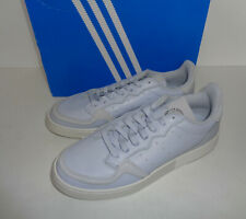 Adidas New Mens Pale Blue Supercourt Leather Casual Lace Trainers Shoes Size 8