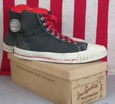 Vintage 1950s Joe Lapchick Canvas Basketball Sneakers High Top Gym Shoes 9.5 Box