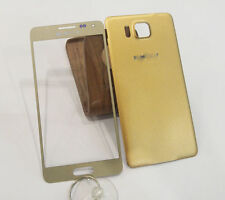 A+ Front Glass Screen&Back Cover For Samsung Galaxy Alpha G850A G850F G850T Gold