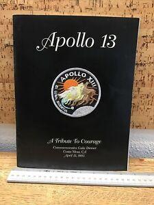 APOLLO 13 Patch & Commemorative Gala Dinner Booklet 1995 NASA Astronaut LL4.15
