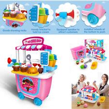 Magic Scooper Ice Cream Shop Cart Food Play Set Interactive Kids Early Education