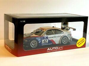 AUTOart 1:18 BMW E46 M3 GTR 2004 24 Hours of Nürburgring Race Winner #42
