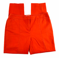 """CHICO'S 1 So Slimming Pants Women's Size M/8 Red Ankle Crop 26"""" Inseam Tapered"""