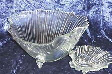 Muschel Schalen Set 8-teilig ~ Glas Bowl + 7 Schälchen ~ 70 er Vintage Küche TOP