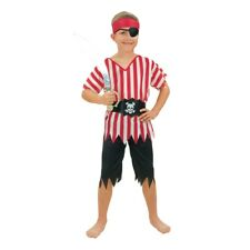 Large Boys Pirate Costume - Fancy Dress Boy Child Outfit Book Week Kids Budget