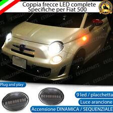 COPPIA FRECCE LATERALI 18 LED DINAMICHE SPECIFICHE FIAT ABARTH 500 500c CANBUS
