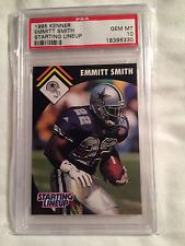 1995 EMMITT SMITH KENNER STARTING LINEUP CARD GRADED PSA 10 GEM MINT *POP 3 SLU