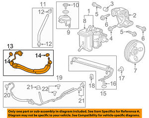 Chevrolet GM OEM 2013 Impala-Power Steering Pressure Hose 22943230