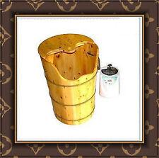Sauna Bamboo Steamer wood leg foot spa shower bathroom bath bucket rheumatism