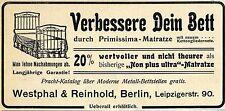 Westphal & Reinhold Berlin PRIMISSIMA-MATRATZE Historische Reklame von 1903