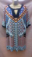 Wallis short tunic top dress size L ethnic tribal print