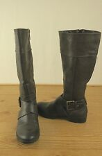 Nine West Ladies Dark Brown Round Toe Synthetic Knee High Boot Size 7M