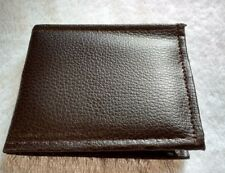 Harman Brown faux leather Wallet Bifold zip photo id Notepad NEW