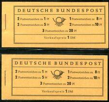 BUND 1958 MH4xv, 1960 MH4YII ** POSTFRISCH 190€(D5216