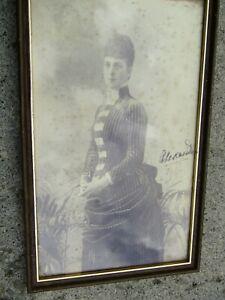 """Queen Alexandra Framed & Glazed 12"""" x 7.1/2"""" Hand Signed Photograph"""
