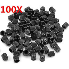 100*Universal Black Plastic Tyre Tire Alloy Wheel Dust Valve Cap For Car Bike UK