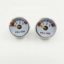 A lots of 2 PCP Paintball 3500psi Mini Micro High Pressure Gauge 1/8bsp threads