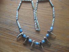 EX-RARE ANTIQUE HANDCRAFTED  HANDPAINTED BONE BEAD  NECKLACE ALL NATURAL PCS