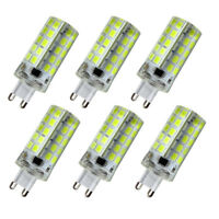 6pcs G9 5W 80-5730 SMD LED Light Bulb Dimmable Silicone Crystal Lamp 110V 6500K