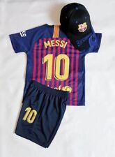 New 2019 Soccer Jersey Barcelona Home #10 Messi Adult Kids Top+Short Kit + Caps