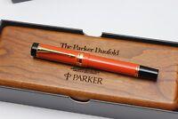 Parker Duofold Orange Centennial Fountain Pen - Wooden  Boxed
