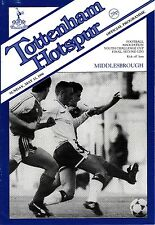 1989/90 Tottenham Hotspur Spurs v Middlesbrough FA Youth Cup Final 2nd Leg