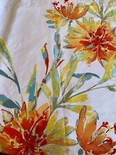 "Tahari Home Martina Cotton Blend Floral Fabric Shower Curtain 72"" x 72"" NWOT"