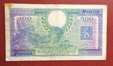 Belgique - Rare et Joli Billet de 500 Francs  du 01-02-1943 Type Londres (1)