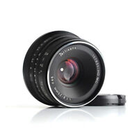 7artisans 25mm/f1.8 Manual Lens 12 Blades F Panasonic/Olympus M4/3 Mount (Black)