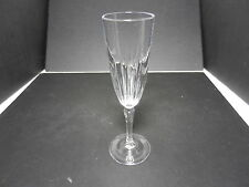 """Contemporary Cut Crystal Champagne Flutes Vertical Cuts 4 Clear 8 1/8"""" T"""