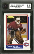 1986-87 O-PEE-CHEE~#53~PATRICK ROY~HALL OF FAME ROOKIE CARD~KSA 8.5
