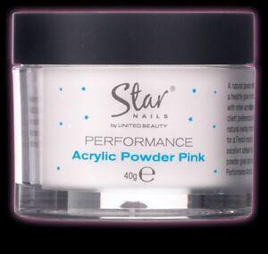 Star Nails Performance Acyrlic powder- pink 1 x 40grm