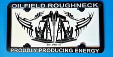 Oilfield Oil Gas gift well License plate pump roughneck sticker decal drill rig