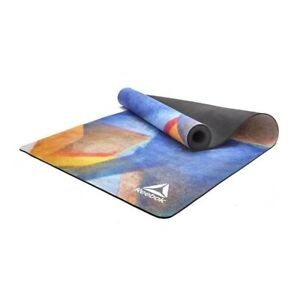 Reebok Natural Tree Rubber Yoga Mat Exercise Gym Eco Friendly Microfibre Surface