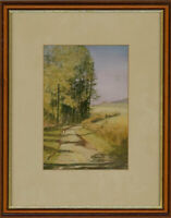 Sue Goodchild - Signed & Framed Contemporary Watercolour, Winding Road