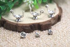 10sets teapot Charms Antiqued Silver Tone teapot bead cap charm pendants 19x15mm