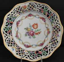 Schumann SCH 7 Reticulated Salad Plate Similar To Dresdner Art; From Germany