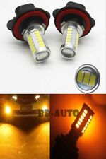 2X LED Amber Yellow H11-55W 33-SMD Fog Light Housing Kit Driving Lamp Bulb DRL