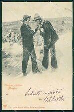 Messina città Costumi Siciliani PIEGA cartolina QT4830