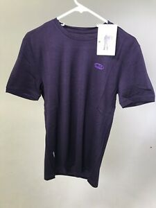 ICEBREAKER Merino Men's Tech Lite T-shirt - PURPLE - XS - NEW WITH TAGS!