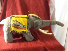1987 Vintage RINGLING BROTHERS & BARNUM& BAILEY KING TUSK Plush Elephant COOL.